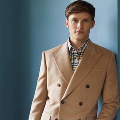 Check out Chester Barrie's new baby camel jacket