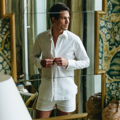 Comfort and style with wedding day boxers from Hamilton and Hare