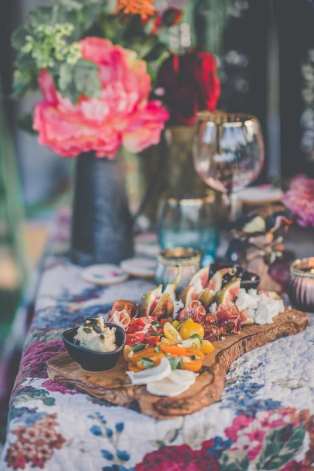 Delicious wedding grazing platter
