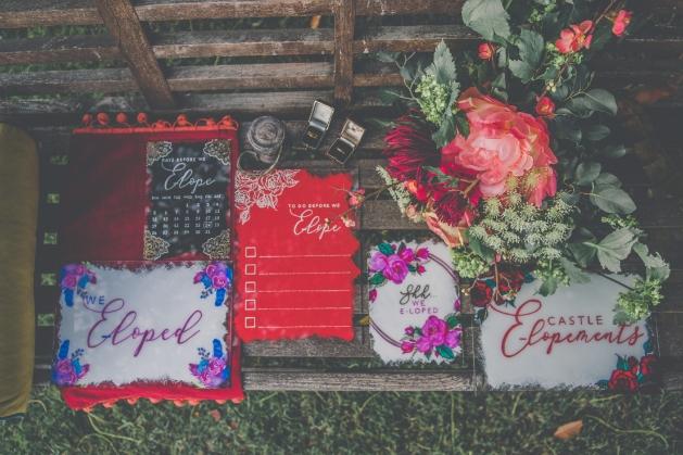 Elopement wedding stationery