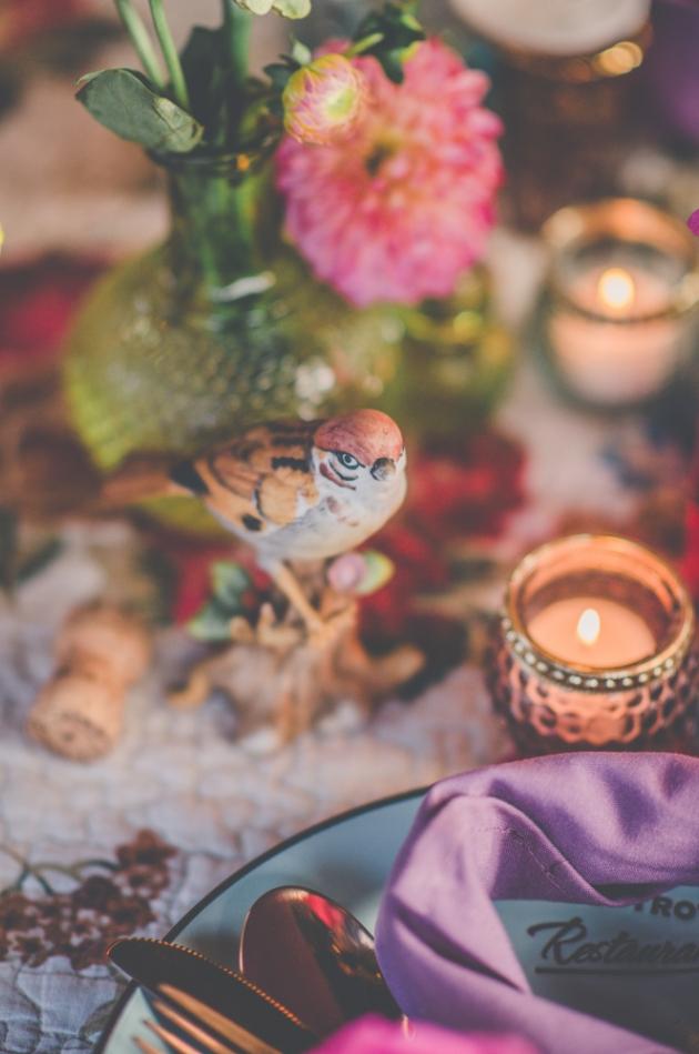 cute ceramic sparrow table decoration