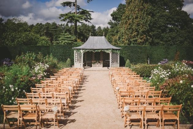 outdoor wedding gazebo in grounds