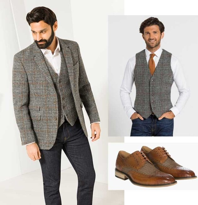 models in a selection of summer tweed looks