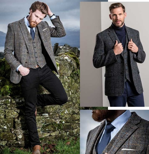 models in a selection of winter tweed outfits