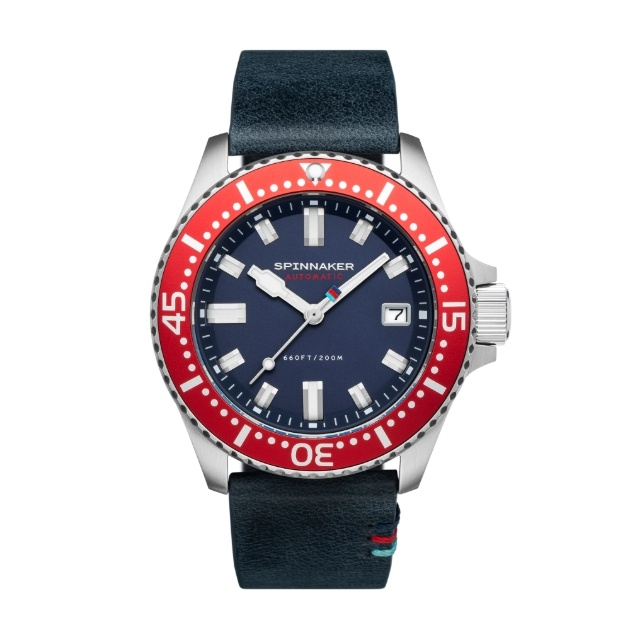 red black and blue watch