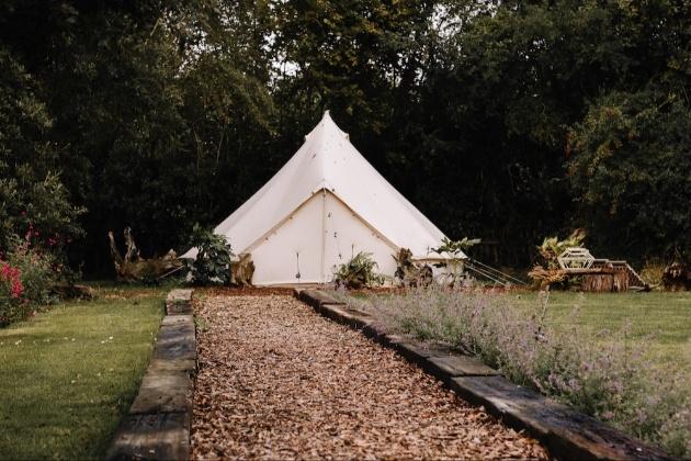 Wedding tent pitched at Samsara