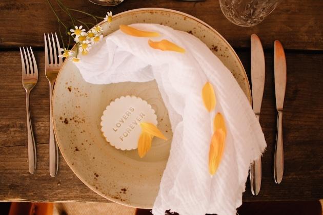 Wedding breakfast tableware