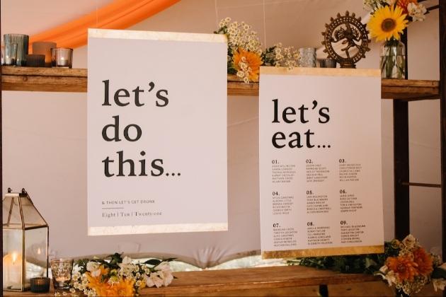 70s wedding table plan