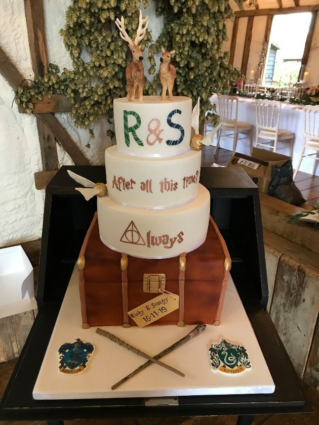 Harry Potter-themed cake by Iced Images