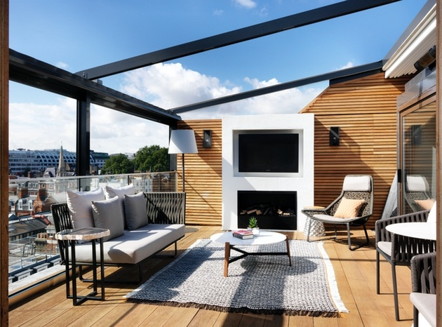 Terrace of The Marylebone Suite at The Marylebone