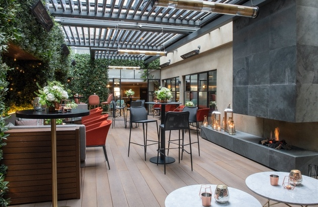 Event space at The Marylebone with living wall.