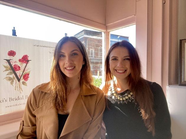 Megan and Hannah owners of Vicki's Bridal Boutique Tenterden Kent