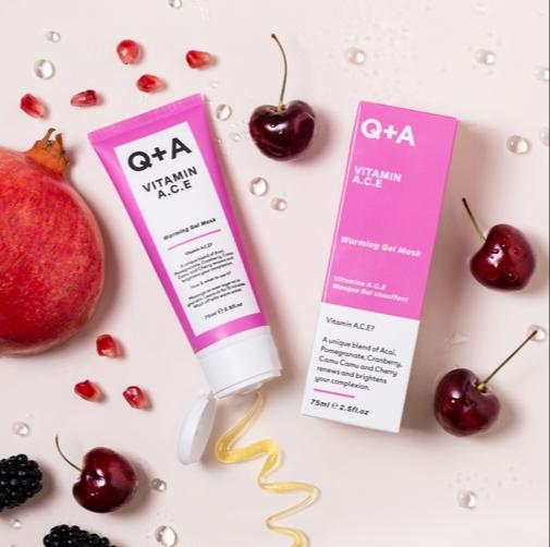 Q+A Vitamin A.C.E  Warming Gel Mask
