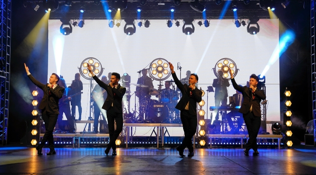 four-piece band on stage